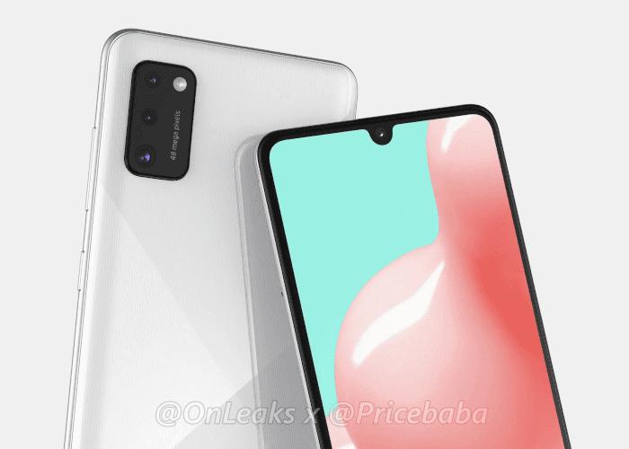 Filtrado el diseño del Samsung Galaxy A41 sin agujero en pantalla