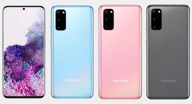 Samsung Galaxy S20 todos los colores