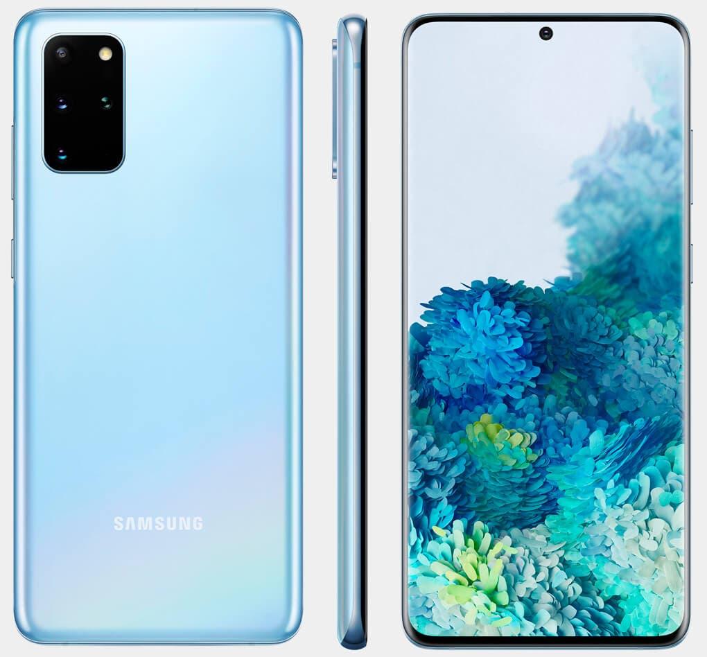 Samsung Galaxy S20+ azul