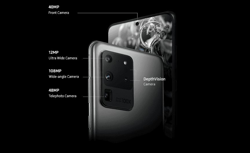 Cámaras del Samsung Galaxy S20 Ultra