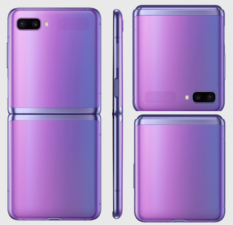 Samsung Galaxy Z Flip morado
