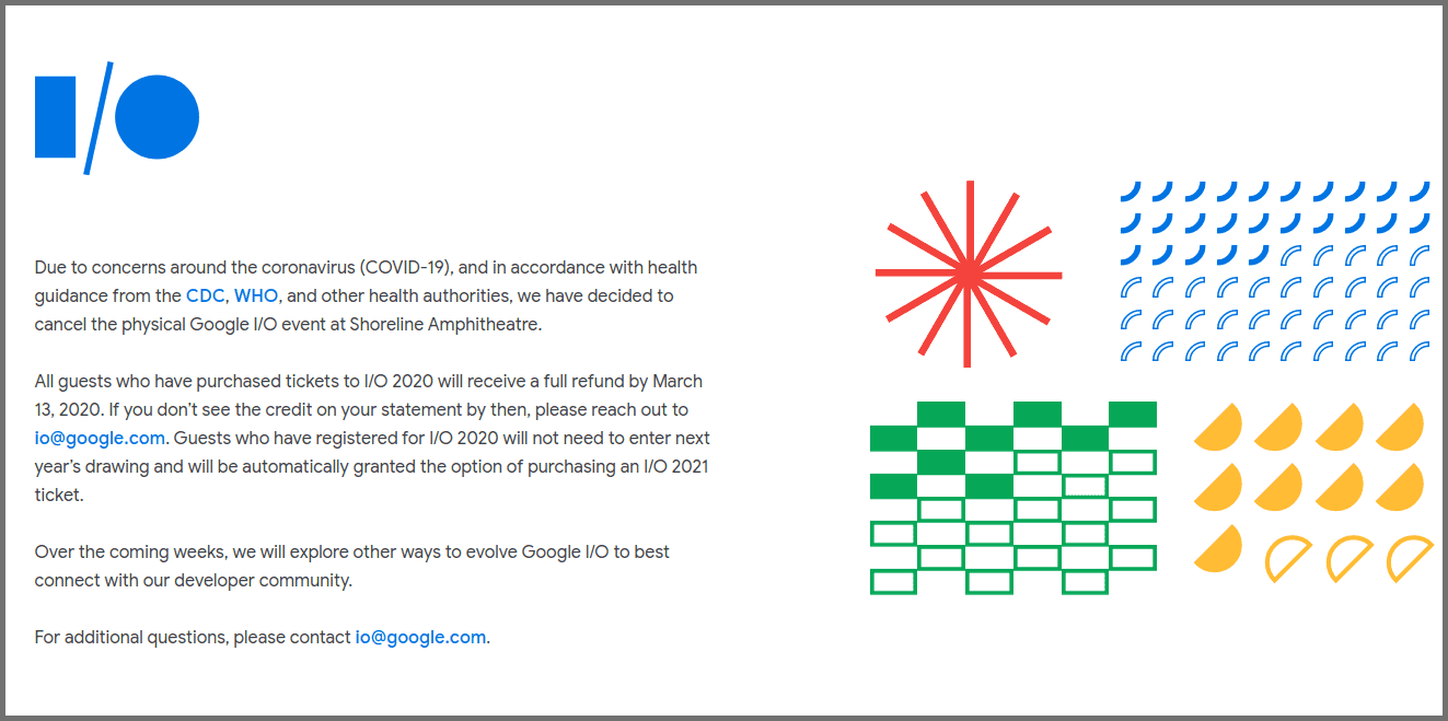 Comunicado Google I/O