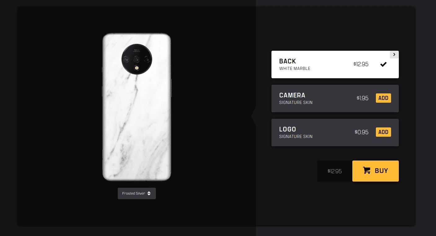 dbrand OnePlus 7T mármol