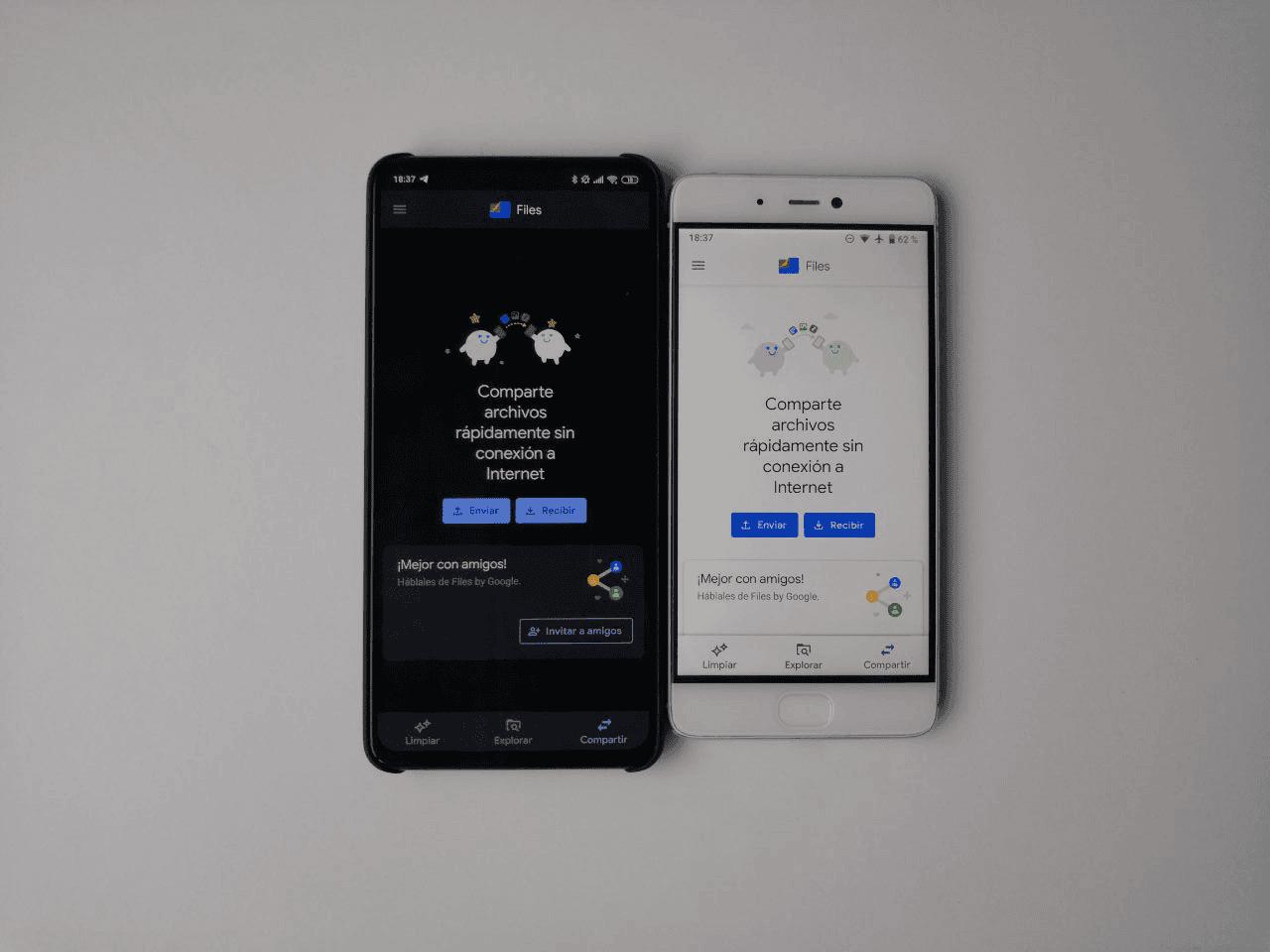 transferir archivos entre móviles