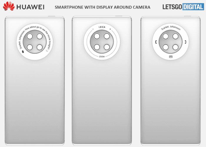El Huawei Mate 40 podría tener una pantalla alrededor de sus cámaras