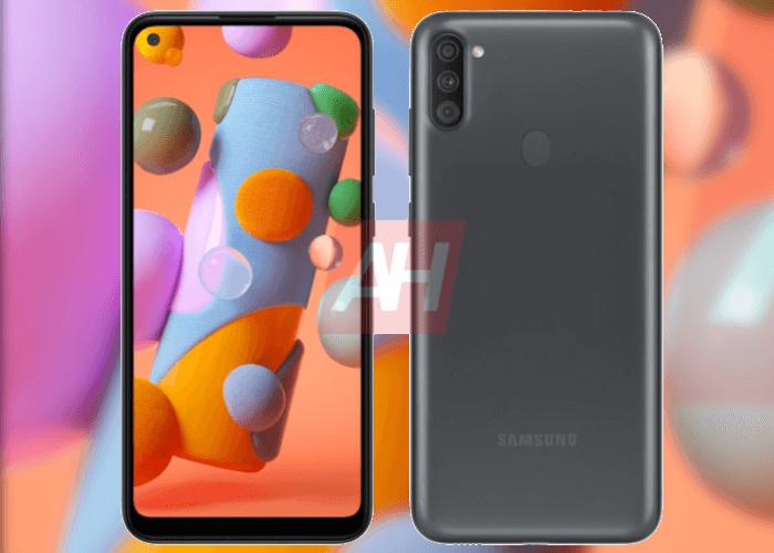 Así será el Samsung Galaxy A11, un teléfono muy barato con agujero en pantalla