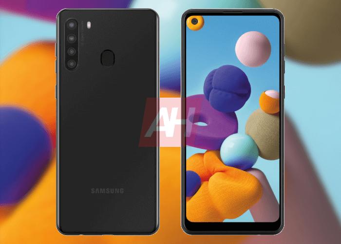 El Samsung Galaxy A21 tendrá cuádruple cámara trasera y agujero en pantalla