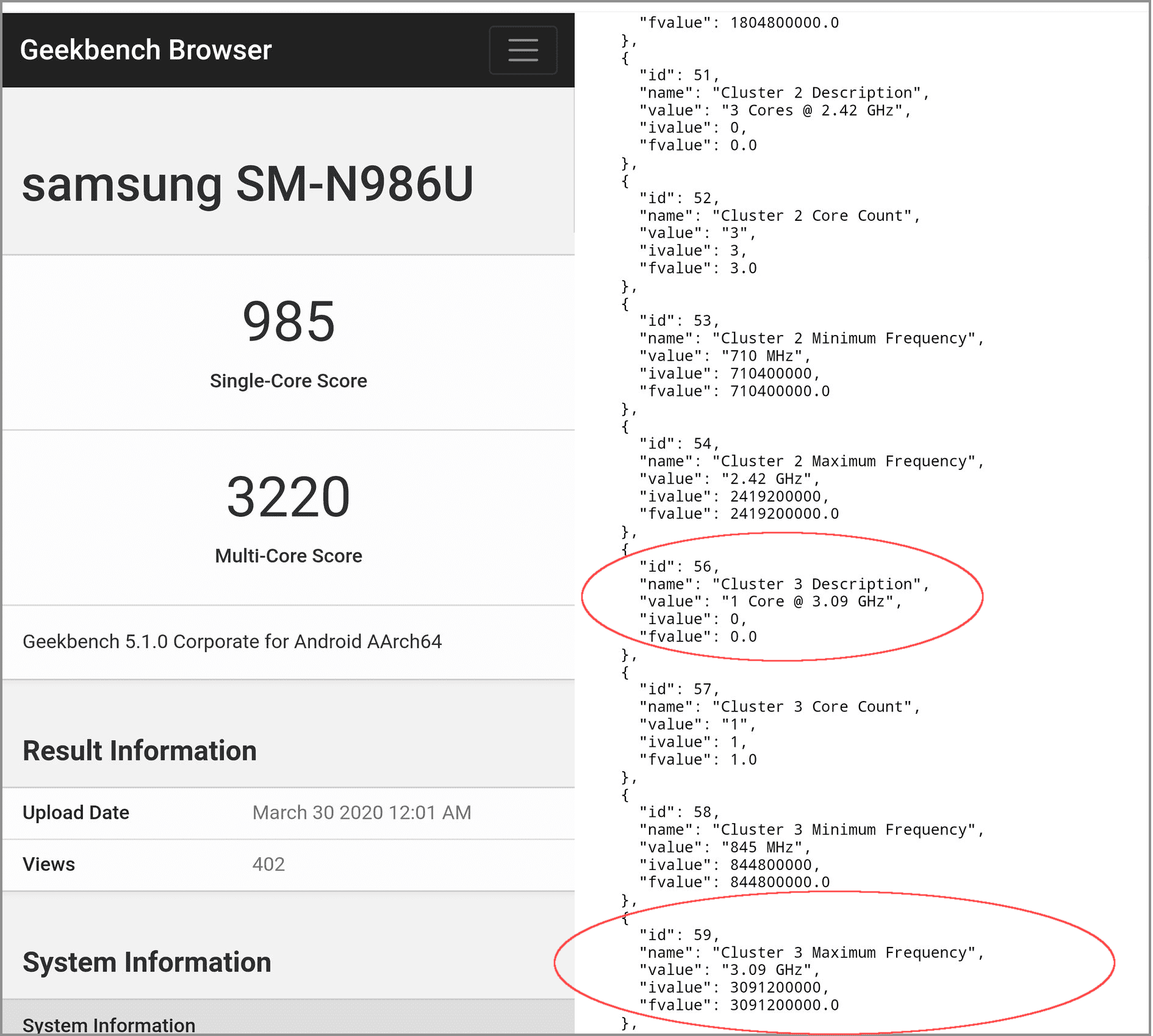 Samsung Galaxy Note 20 Qualcomm Snapdragon 865+