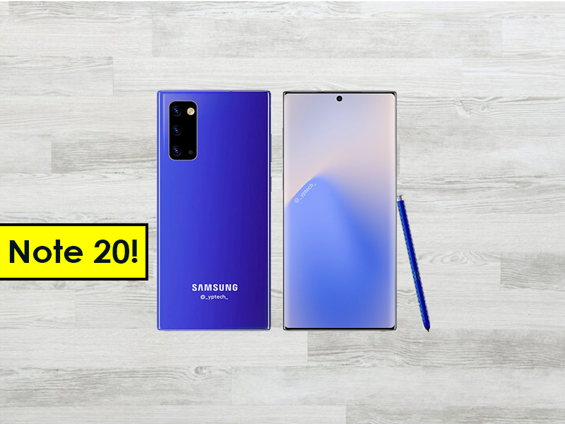 Así será el Samsung Galaxy Note 20, filtrado el diseño frontal y trasero