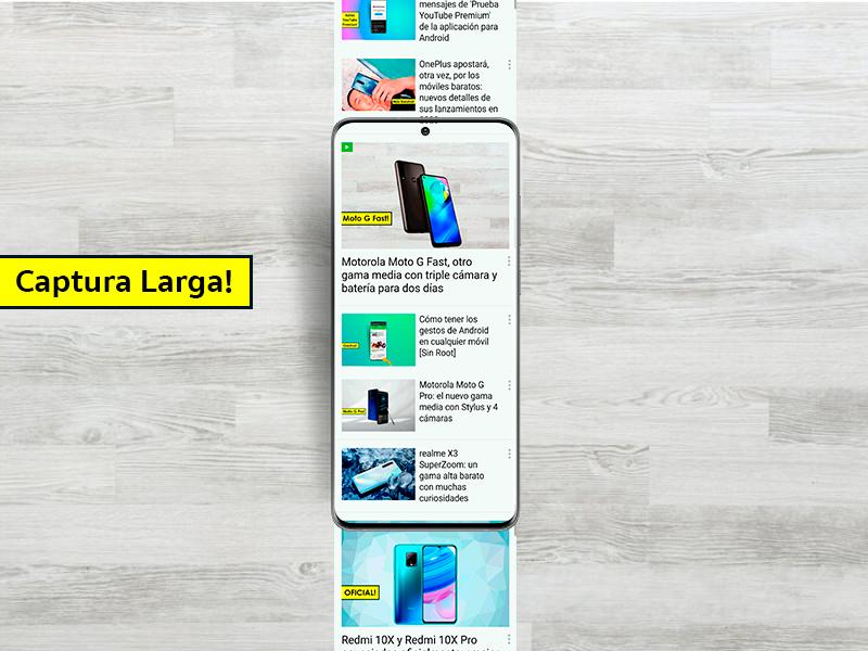 Cómo hacer las capturas largas de los Samsung en cualquier móvil Android