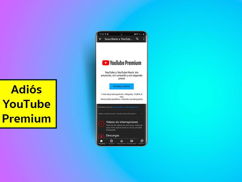 Cómo eliminar los mensajes de 'Prueba YouTube Premium' de la aplicación para Android