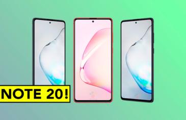 El Samsung Galaxy Note 20 llegaría con una pantalla plana