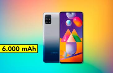 Llega el Samsung Galaxy M31s, un gama media con 6.000 mAh de batería, 5 cámaras y 6 GB de RAM