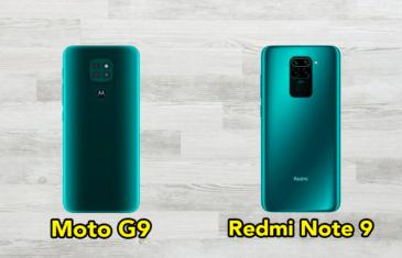 Motorola Moto G9 vs Redmi Note 9: comparativa de características