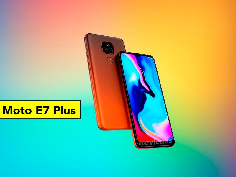 Motorola E7 Plus: filtrado el diseño del móvil más barato de Motorola
