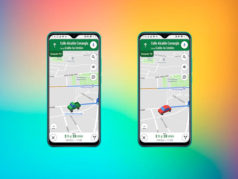 Truco para Google Maps: cambia el icono de navegación por un coche, un SUV o una camioneta