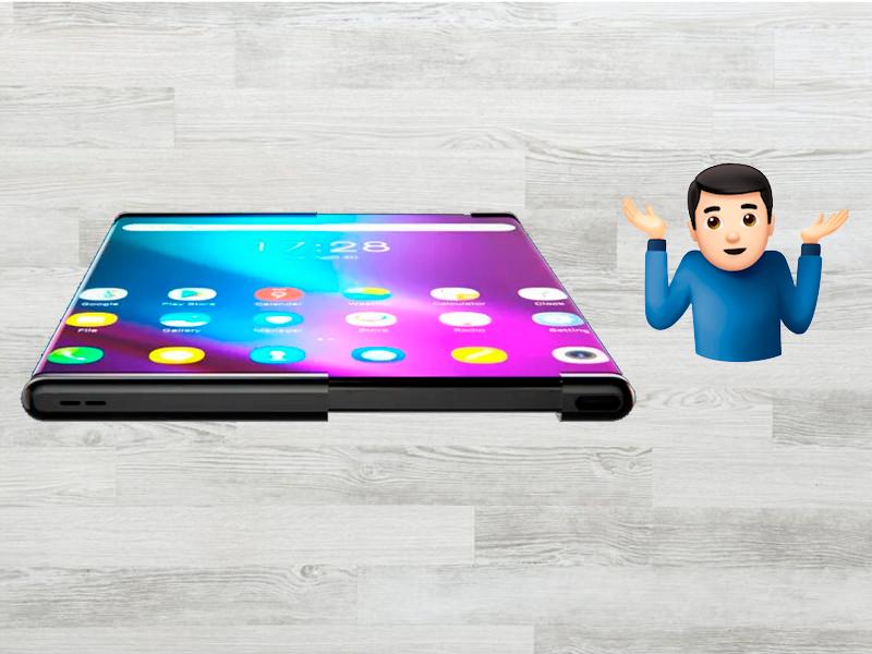 Este móvil te dejará con la boca abierta: diseño de pantalla enrollable