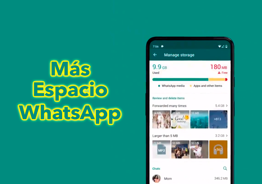 Libera espacio en WhatsApp: la nueva función que debes probar para tener más espacio