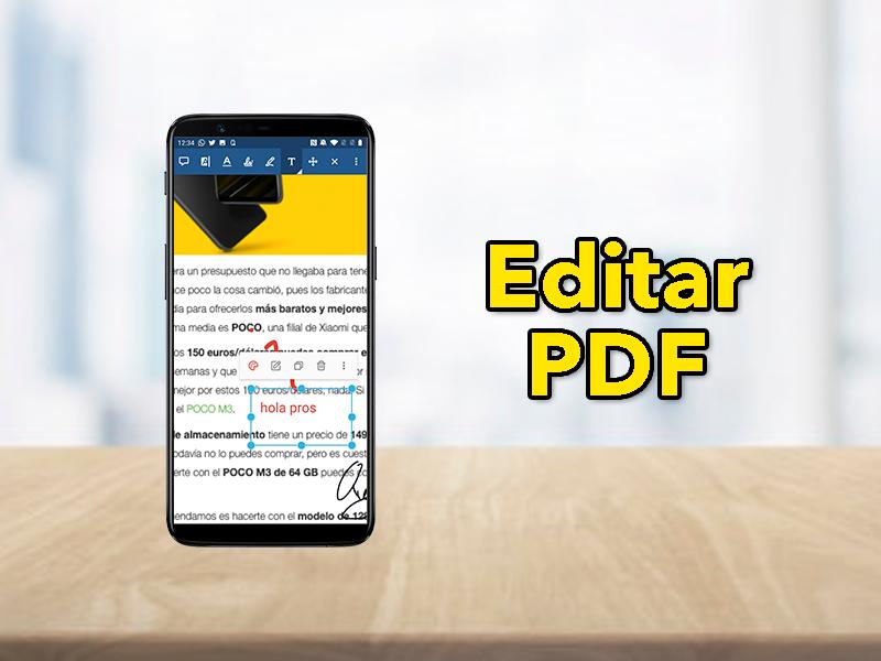 Editar un PFD con el móvil de forma rápida: firma, escribe, modifica…