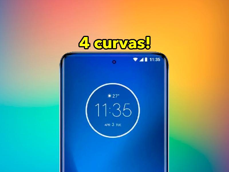 Este sería el espectacular diseño del Motorola de gama alta para 2021: pantalla con 4 curvas