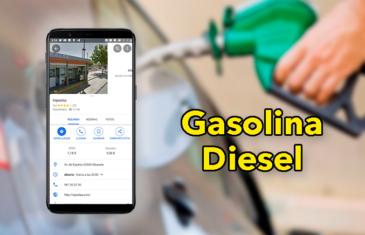 Cómo saber el precio de la gasolina y diesel desde el móvil con Google Maps