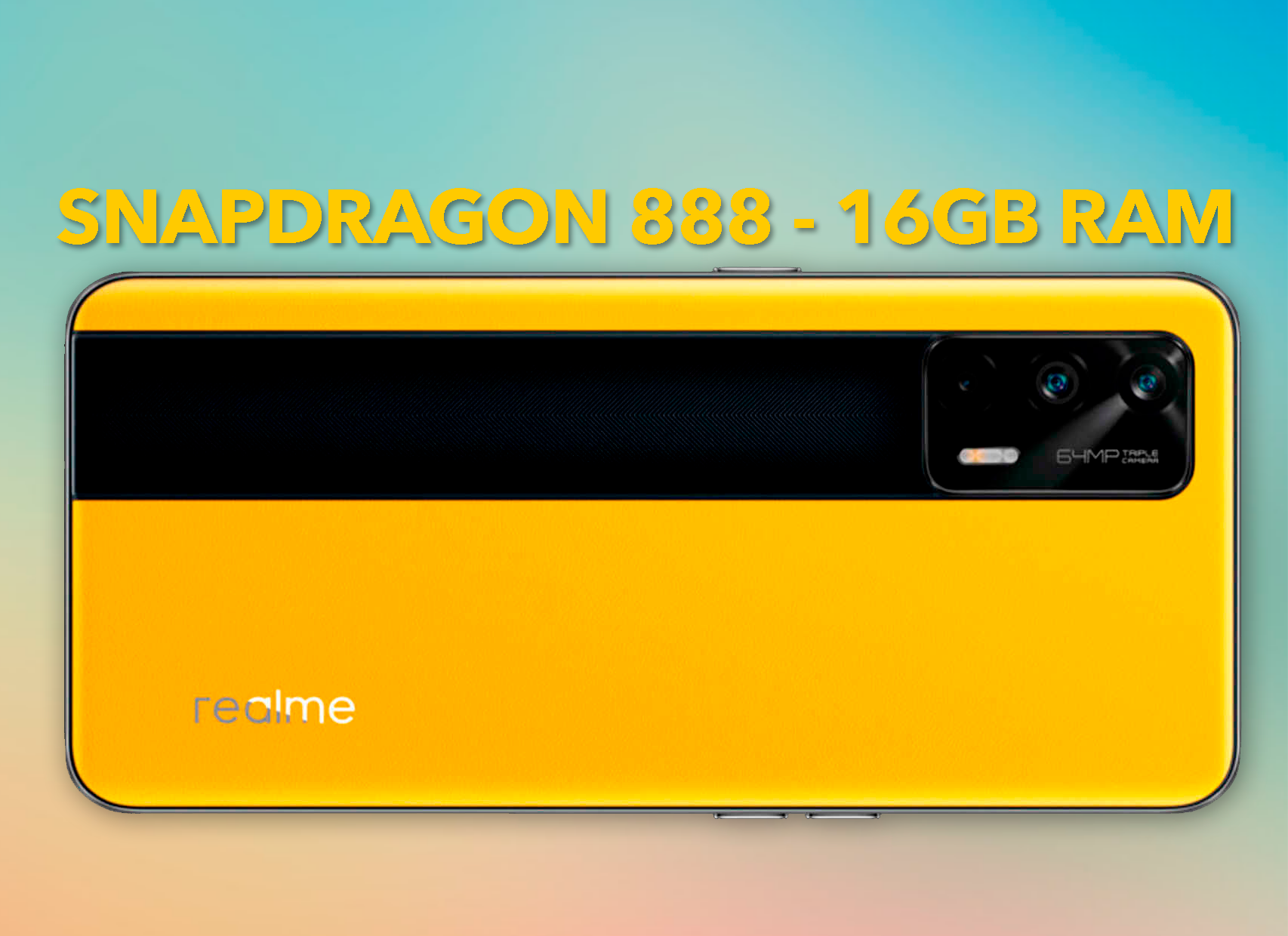 Realme GT 5G, el gama alta más brutal y barato del mercado