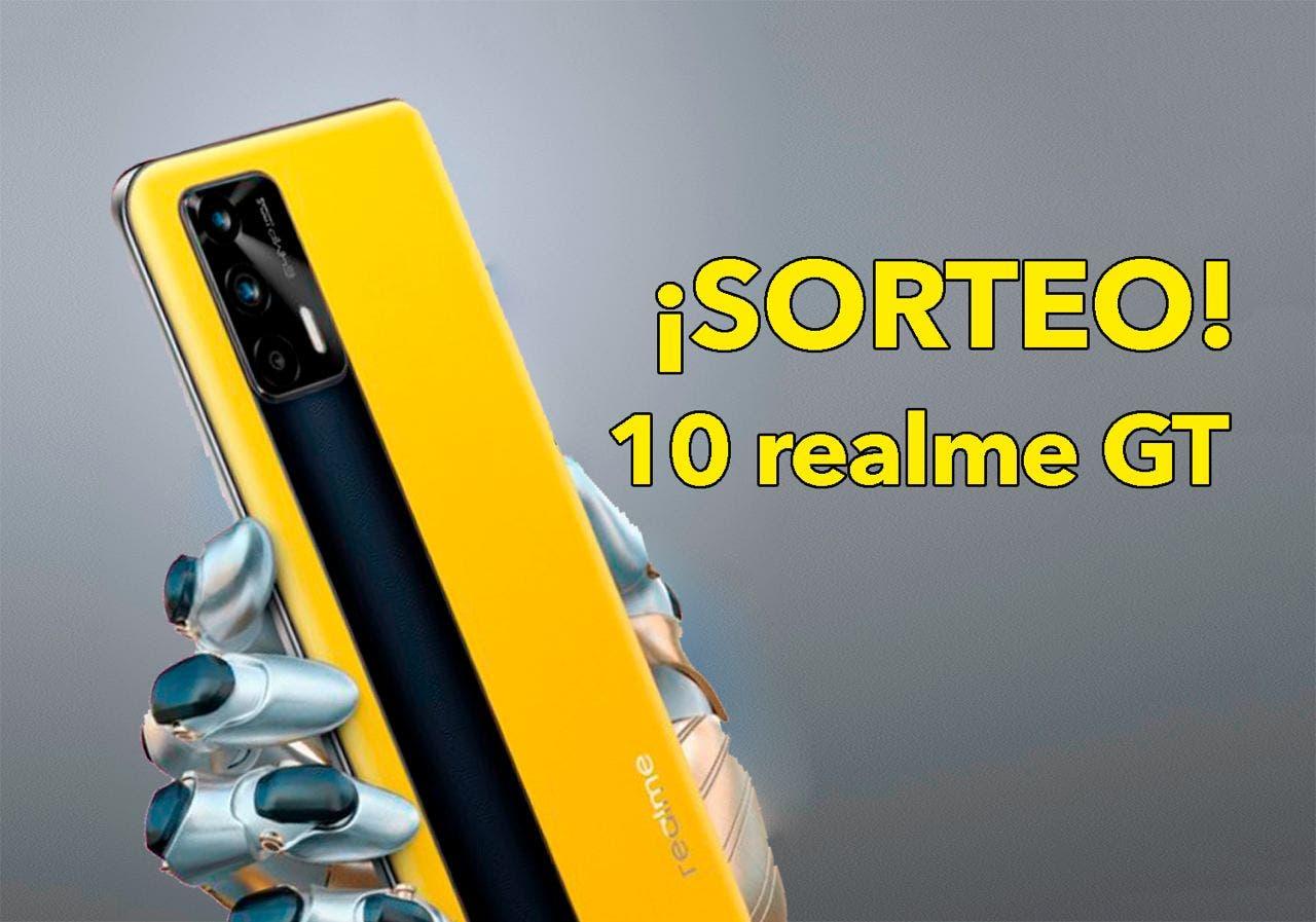 SORTEO: 10 teléfonos REALME GT con acceso a la beta de Android 12!