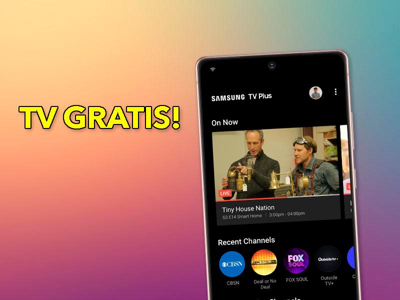 Canales de Televisión Gratis si tienes un móvil Samsung Galaxy